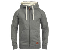 Sweatjacke 'Speedy' grau