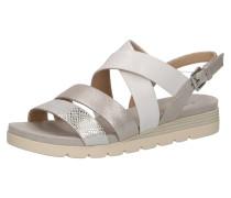 Sandalen silber / nude