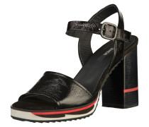 Sandalen rot / schwarz / weiß