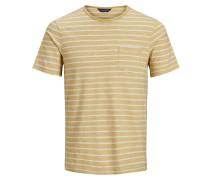 Melange T-Shirt dunkelgelb