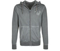 Kapuzenpullover Hoody Patches grau