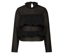 Bluse 'ruffle Blouse With Sheer Shoulders'