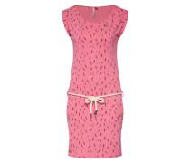 Kleid 'tagali' pink / schwarz / weiß