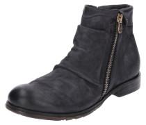 Leder-Boots 'clash' nachtblau
