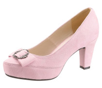 Trachten-Pumps rosa
