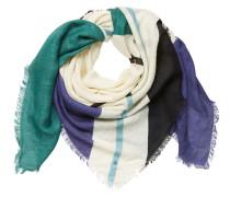 Schal blau / jade / weiß