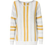 Pullover goldgelb / hellgrau / weiß