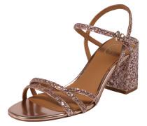 Sandale 'sparkle' mit Riemchen gold / rosé