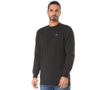 'Basic Crew' Sweatshirt schwarzmeliert