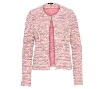 Strickjacke pink / weiß