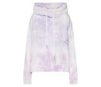 Sweatshirt 'batik' lila / weiß