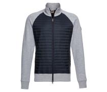 Jacke 'mens Sweatshirt' blau / grau