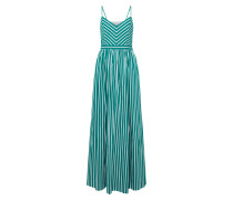 Kleid 'Gewebe' petrol / naturweiß