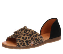 Sandale 'Chiusi' braun / schwarz