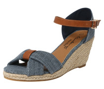 Sandalette blue denim / braun