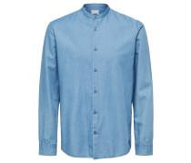 Regular Fit Langarmhemd blau