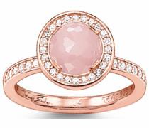 Silberring rosegold / rosa