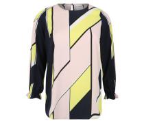 Bluse kobaltblau / gelb / rosa