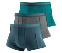 Boxer (3 Stück) grau / petrol / smaragd