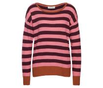 Pullover aubergine / orange / pink