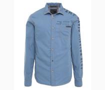 Hemd rauchblau / schwarz