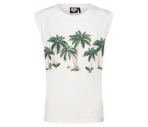 Shirt 'Hawaii' braun / grün / weiß
