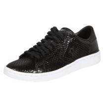 Sneaker Low mit Reptiloptik schwarz