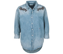 Jeanshemd mit Patches blau