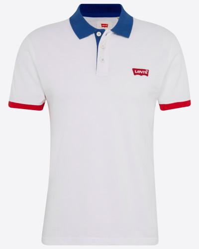 Poloshirt blau / rot / weiß