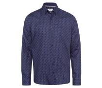 Hemd 'Daniel' blau / bronze / puder