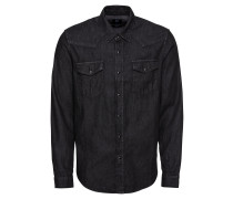 Hemd 'western Shirt Black' black denim