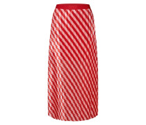 Rock 'Jasmine Skirt' rot / weiß