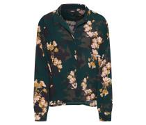 Bluse goldgelb / smaragd / rosa