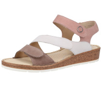 Sandalen taupe / rosé / weiß