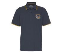 Poloshirt dunkelblau / honig / weiß