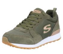 Sneaker 'Goldn gurl' oliv / gold