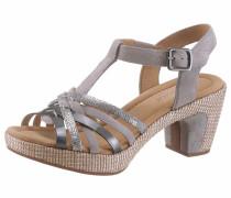 Sandalette grau / taupe