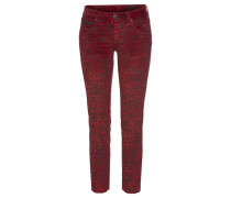 Hose 'Touch Cropped' rot / bordeaux