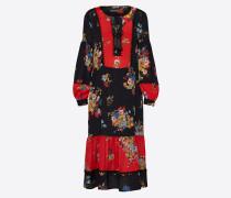 Maxi-Kleid rot / schwarz