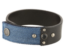 Armband 'a-Keepler' blue denim / schwarz