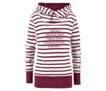 Sweatshirt weinrot / weiß