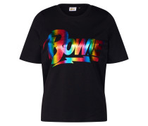 Shirt 'bowie' mischfarben / schwarz