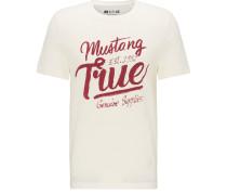 T-Shirt beige / rot