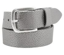 Ledergürtel mit Metallic-Muster