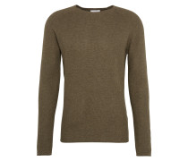Pullover 'The Honeycomb Crew Neck' khaki