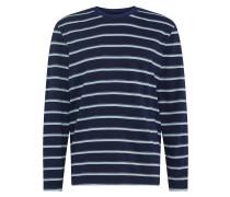 Shirt 'LS HWT Indigo T' indigo / weiß