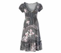 Jerseykleid graphit / rosa