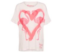 T-Shirt pink / weiß