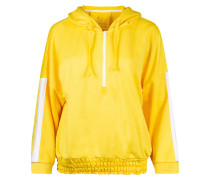 Sweatshirt 'Fana' gelb / weiß