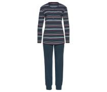 Pyjama rauchblau / mischfarben